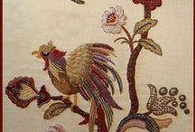 Haft jakobiński, haft wełną/ Jacobean embroidery