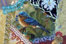 Crazy patchwork/ szaleństwa haftowane