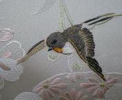 Jaskółki/ Swallow embroidery