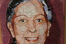 Mosaic portraits made by me / Mosaic portraits hand made