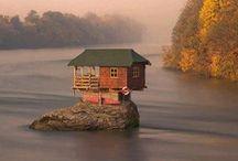 """Originele huizen - wereldwijd / Leuke, grappige, mooie maar vooral originele """"places to live""""!"""