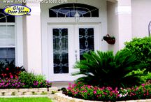 Front doors with glass / Any front entry door with decorative glass. New front doors or doors that were cut to add glass or replaced the glass in the existing door. Mostly mainstream standard front doors in traditional and modern styles