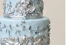 silver • blue • royal • navy   / colour board   art • fashion • decor in shades of cobalt   royal blue and silver with sections of    soft (powder) blue and silver   navy blue and silver  