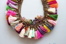 Tassels, Pom Poms, summer jewelry