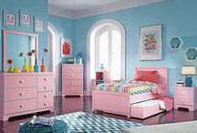 Fun Colorful Bedroom Ideas for Kids / Colorful, fun and useful furniture for kids that will stand up to their bouncing and jumping around.