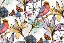 Цветы. Птицы.