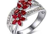 ruby   / colour board   art • fashion • gemstone   jewel in ruby red