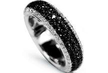 black diamond   / colour board   art • fashion   gemstone   jewel in silver and black diamond