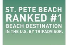 St. Pete Beach, FL / Award-winning beach as designated by Trip Advisor in 2011 and 2012.  A wide variety of resorts and condos available for beachfront stays, and off beach cottages and B&B's.  Lots of dining choices, nightly entertainment venues - street fairs, shops - and sunsets!  All await you! www.TampaBayBeaches.com / by Tampa Bay Beaches Chamber of Commerce