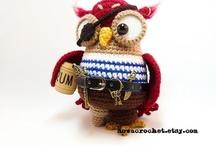 My Owls House / Alle Eulen sind von mir designed und gehäkelt