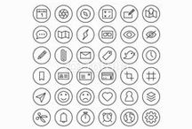 Line Icons / Line icons for everyday applications, software, internet, web and social media.