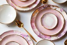 Servies porcelein tableware