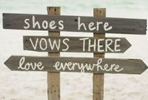 Beach Wedding / Romantic ideas and inspiration for a unique beach wedding!