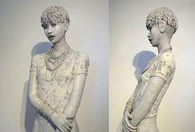 Michèle Duchêne Papier Mache / Mes sculptures en pâte à papier