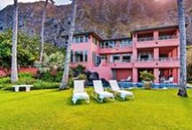 Featured Property - The Coral Palace, Oahu / This beachfront estate is located on one of the most beautiful stretches of beach in Hawaii: Waimanalo. This spacious estate features nine bedrooms that can accommodate up to 20 guests and is divided into two sections: Ocean-side Wing and Mountain-side Wing. Each wing offers a gourmet kitchen, comfortable living area, stunning views and a garage! The home is secure and kid-friendly with lots of safety features and even a water-slide! Read more here! http://bit.ly/CoralPalace