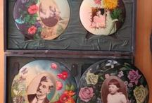 Celluloid Photo Buttons