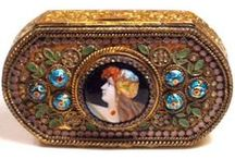 French Enamelled Accessories / I really love the intricate patterns on these and would love to be able to find out more about them.  If anybody has any information or other examples I would love to know.  Thanks