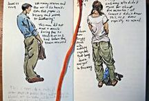 Urban sketch people / Urban sketching, taking life drawing into the street, cafes, the world. Sketching people.