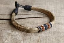 Men's jewelry by me / Unique jewelry for men. All pieces are designed and made by myself. I use mainly natural materials, silver and Japanese seed beads.
