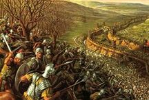 Guerre des Gaules -58 à -51/50 / Batailles: Magetobria (60), Arar (58), Cavillomum (59), Bidracte (58), Ochscenfeld (58), L'Aisne (57), Le Sabis (57), Octodure (57), Morbihan, navale (56), Vernix (56), Expédition de Bretagne (55 et 54), Aduatuca (54), Avaricum (52), Gergovie (52), Lutèce (52), Alésia (52), Uxellodunum (51).