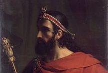 Caribert 1° (521 +567) Roi de Paris (561-567) / Roi de Paris (561-567) préd Clotaire 1°, succ Chilpéric 1°, Gontran, Sigebert 1° - Dynastie Mérovingien. Né vers 521, mort en 547. Père Clotaire 1°. Mère: Ingonde. Conjoints: Ingeberge, Méroflée, Marcowefa, Théodechilde. Enfants: Berthe, Bertheflède, Clotilde.