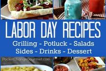 Labor Day Festivities / Whether you are hanging by the pool, on the beach, grilling out or relaxing in the AC - all these recipes are great for your Labor Day plans!
