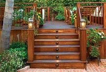 Decking Ideas / Every cedar hot tub deserves a beautiful deck. Here is some inspiration.