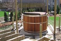 Building a Cedar Hot Tub in a Deck / A round cedar hot tub from Canadian Hot Tubs is assembled and built into a deck. Our cedar hot tub kits are assembled on site.