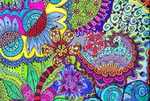 Zentangle og doodles