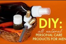DIY For Men Naturally / Men's products made naturally / by Kat B