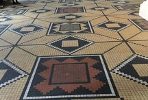 Floor designs, perfect for quilting and knitting patterns / Mosaic floors from Thorvaldsens Museum in Copenhagen, Denmark.