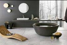 bathroom extravaganza / grand luxurious or tiny simple cozy : every bathroom can be stylish - but i admit my preference for the big yet simple space / by synapse *