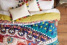 Home Sweet Home /  My decorating style? Vintage, thrifted, bohemian, artistic, gypsy, diy, painted and a little messy...
