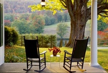 Come and sit a spell - Porches, Patios, & Beyond / My favorite is a covered  porch with a comfy rocker or chair, but any inviting place to sit with friends, family, or alone for quiet time is fine by me. / by Candy Thompson