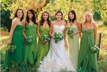 Green wedding theme ideas / Ideas for inspiration with a green coloured theme at your wedding