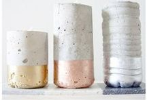 CONCRETE candle & accessories for home