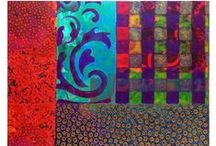 """Julie Renfro :: Abstract Art / My mother was a quilter, and I have a tendency in some of my work to create """"quilt-like"""" squares. I love ornament, texture, vibrant color, and obsessive detail. Gold paint is usually involved."""
