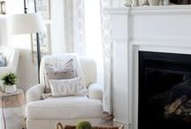 living room + family room / light, bright, and white - cozy living spaces