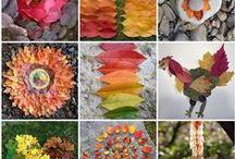 Luonnonmateriaalit+savityöt / nature crafts /clay / Askartelua luonnonmateriaaleilla ja savella