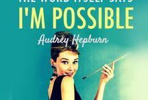 Audrey Hepburn  / by Blanche Thomsen