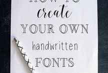 graphic design + fonts