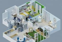 3D Apartment Plans / Photorealistic 3D Floor Plans