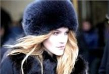 Women's fox fur hats