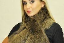 Women's fur scarves