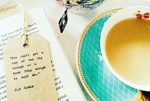 Tea Party / Tea, tea cups, high tea... Oh and a good book to read
