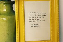 Typewriter Quotes / Bookish quotes about love and happiness, hand typed on a vintage typewriter.