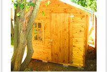 Storage Sheds, Wendys & Office Units by Playground Wizards / Playhouses, Wendys & wooden structures built by Playground Wizards. www.playgroundwizards.co.za.  Contact: sales@playgroundwizards.co.za