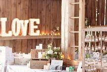 Barn Wedding Reception decorating ideas