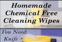homemade - chemical free cleaning / A board full of homemade or chemical free cleaning products!