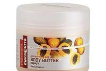 Masła do ciała MACROVITA / Seria maseł do ciała MACROVITA przekonuje przyjemnością stosowania, wysokim udziałem naturalnych składników i wyjątkowo skuteczną pielęgnacją. Naturalne bio-ekstrakty oraz przyjemny zapach przynoszący odprężenie sprawiają, że masło jest naturalnym kosmetykiem idealnym dla ciała oraz zmysłów.